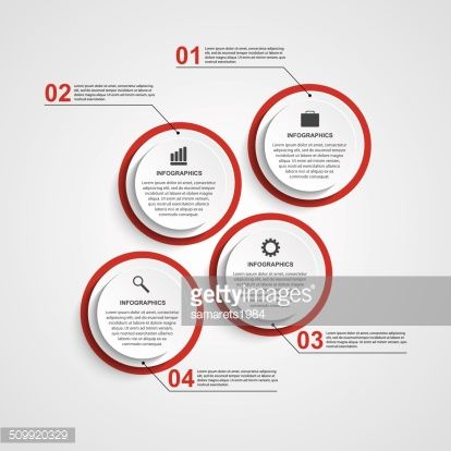 Abstract circle infographic design template. Vector illustration.