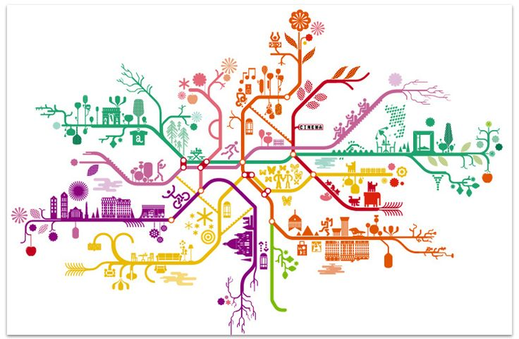 The Paris Metro Map is the work of French design duo Antoine and Manuel.
