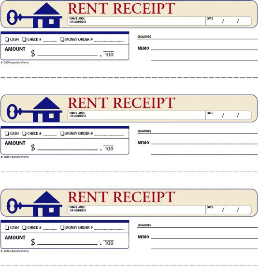 FREE Rent Receipts for Landlords | rent receipt this standard rent receipt records every aspect of a ...