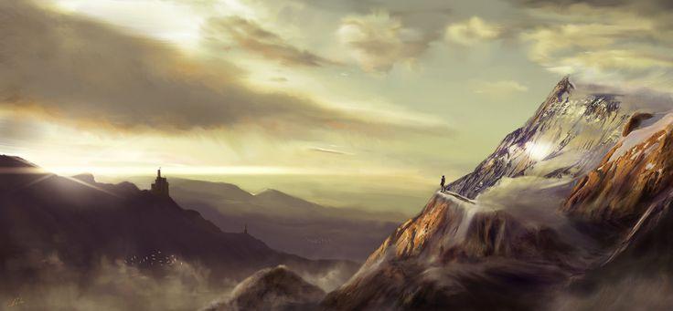 ArtStation - Crystal Mountain (2015), David Ceballos López