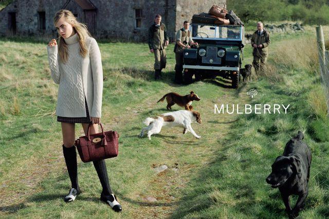 Рекламная кампания Mulberry с Карой Делевинь, осень-зима 2014