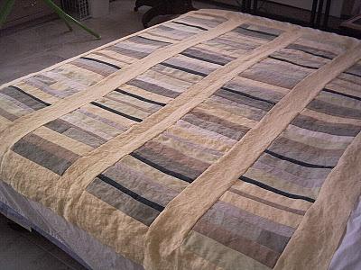 Linen quilt top lovely
