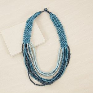 Many Layer Panel Back Mid Necklace