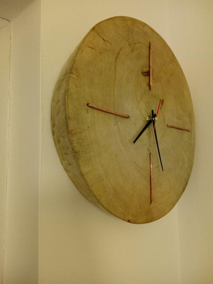 clock wood & copper