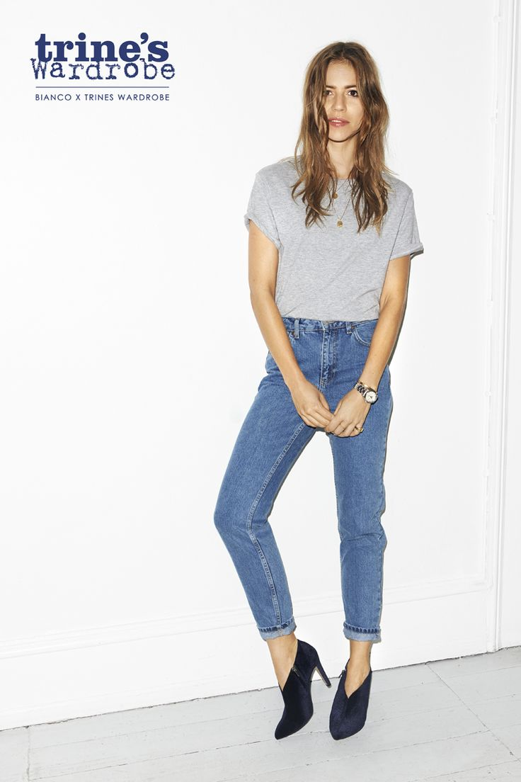 LOOK BLUE JEANS - GREY TOP - LOW BOOTS