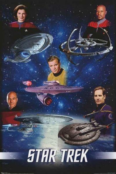 Star Trek Captains Poster 22x34 – BananaRoad