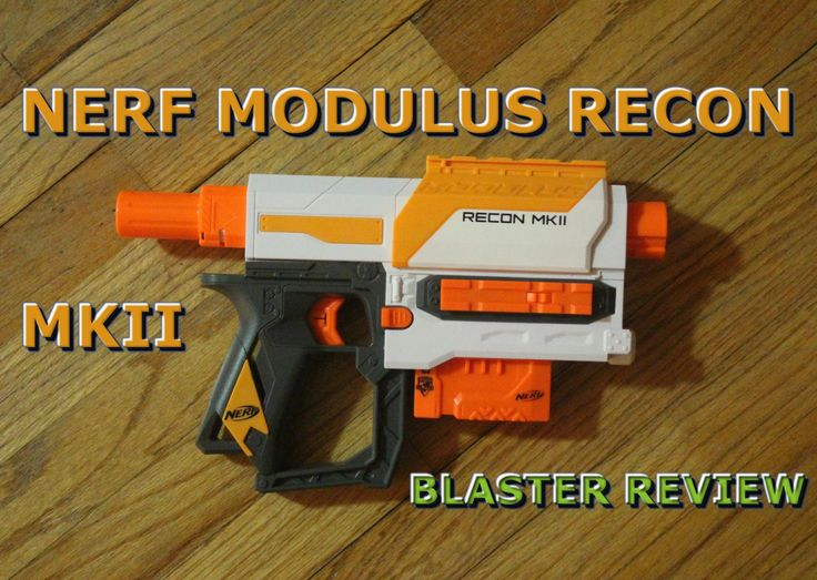 the new Nerf Modulus Recon Mk II blaster! This is actually a re-shell of the old Nerf Recon / Nerf Retaliator blaster. It has many things in common with those blasters, but it also has a few tricks up its sleeve. Obvious changes include the color scheme and the new handguard, as well as an additional tactical rail on the side of the blaster. The new Modulus Recon also comes with new Nerf gun attachments in the box this time around.