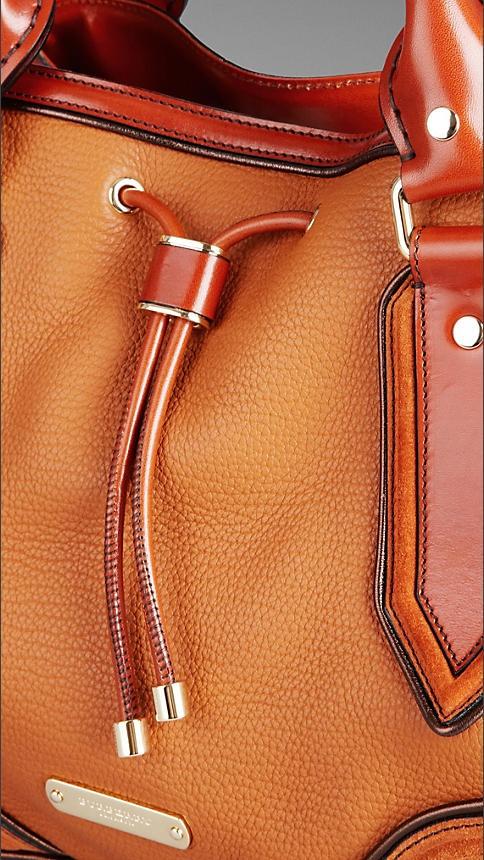 Burberry Metallic Frame Tote Bag
