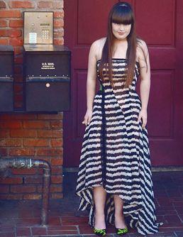 Jamie Brewer, jeune femme atteinte de trisomie 21, défile à la Fashion Week de New York