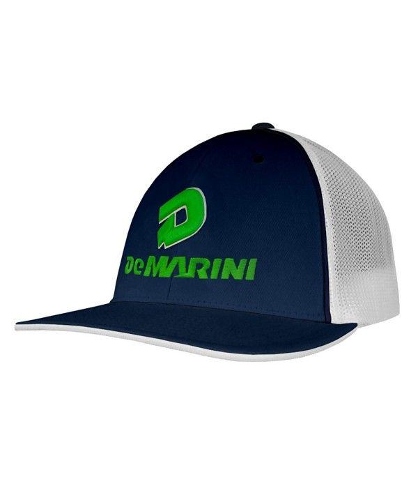 buy popular 105ef d8781 Stacked D Flexfit Pacific Headwear Trucker Hat Navy White Green CE12G5ZM5QR  - Hats