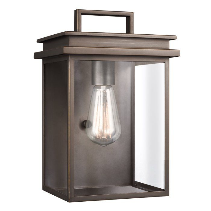 This 1 Light Outdoor Flush Mount enhances the beauty of your property makes your home safer and more secure and increases the number of pleasurable hours you spend outdoors. The Prairie style is known for simple linear design elements often influenced by Asian characteristics and this outdoor collection delivers that look with its streamlined frame and subtly detailed flat roofline. A new gilded antique bronze finish brings a refreshing and stylish tone to dress up outdoor spaces. The open…
