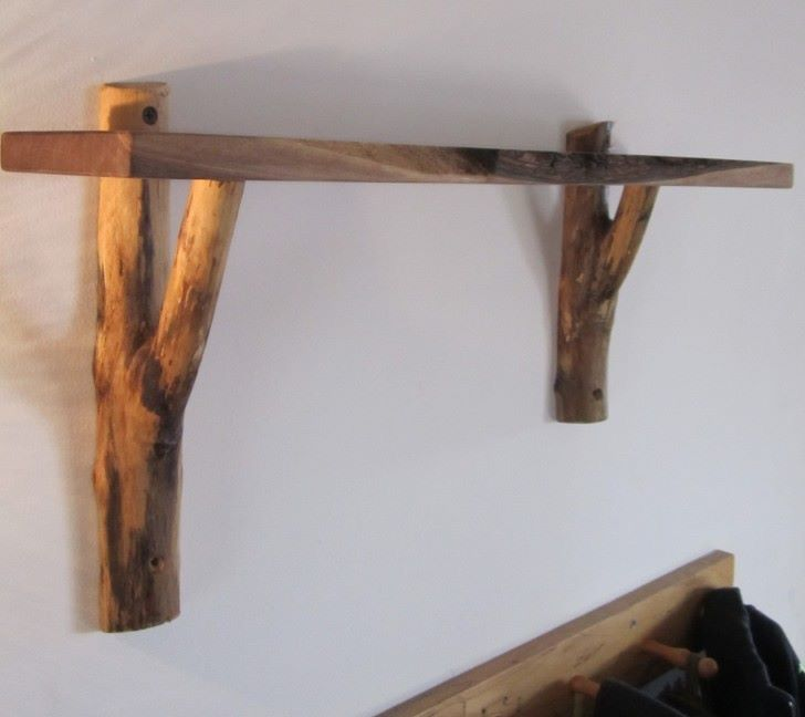 Nursery Shelf But Extend Tree Trunks To Ground Extend Ground Nursery Shelf Tree Trunks Woodencratesbookshelfnursery In 2020 Rustic Wall Shelves Rustic Wooden Shelves Rustic Wood Walls