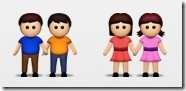 Gay, lesbian couple emoticons to be included in new Apple iOS 6 iPhone operating system