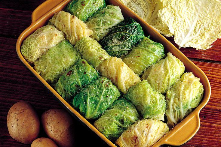 Involtini di verza con speck e patate
