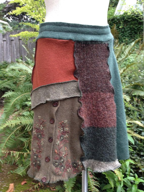LOVE!!!!!! Felted Upcycled Patchwork Wool and Cotton by danamurphydesigns, $46.00