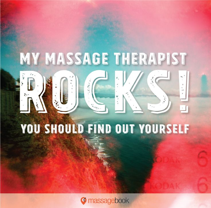 Shout out to massage therapists that rock