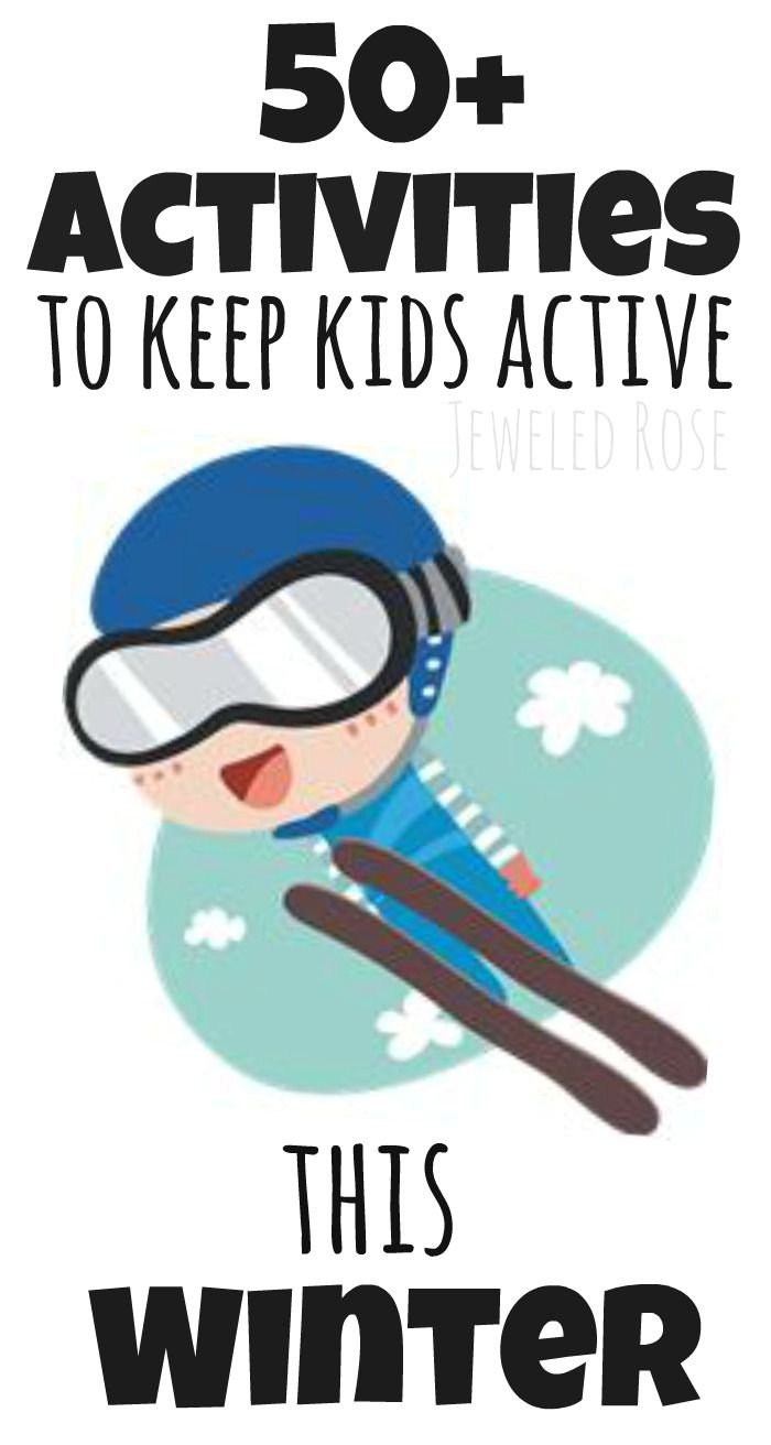Over 50 activities to help keep kids active this Winter including LOTS of indoor activities.  {This list is great for any time you are stuck inside}
