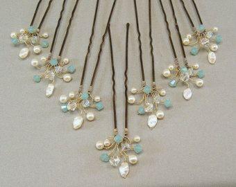 Mezcla de cristal accesorios Wedding del pelo por BridalDiamantes