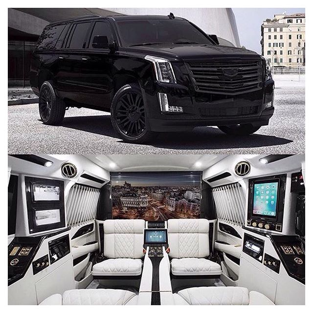 Buy Used Cadillac Escalade: Escalade Sky Captain Piano Edition Mobile Office ⚪️ -- © @lexanimotorcars