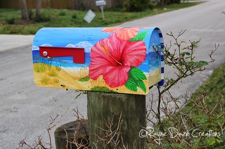Rayne Daze Creations: Tropical Painted Mailbox