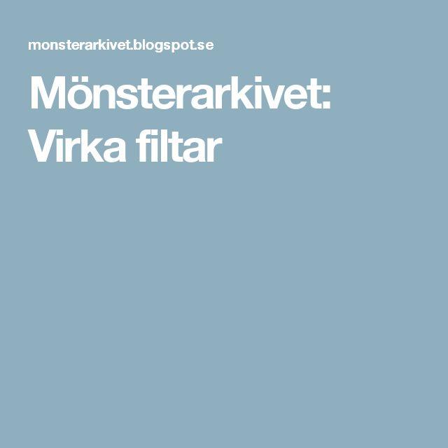 Mönsterarkivet: Virka filtar