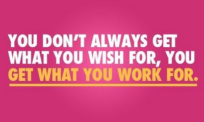 c'è una grande differenza tra desiderio e determinazione: l'azione!