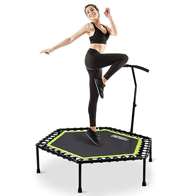 "48/"" Mini Trampoline Fitness Exercise Gym Rebounder Cardio Trainer Jump OT064"