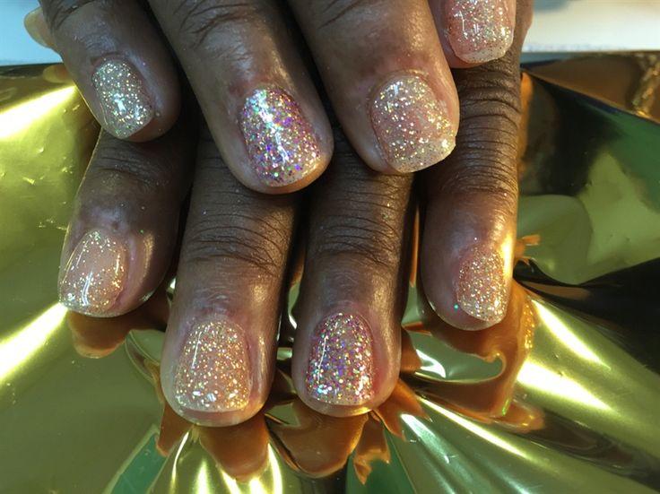 nails.quenalbertini2: LCN Glitter Gel nails by rosielena | Nail Art Gallery
