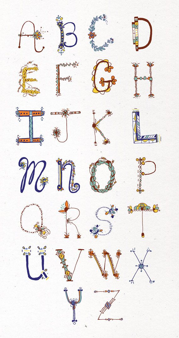 Happy Letters Set of 4 by littlethingsstudio on Etsy