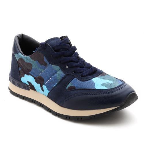 Lacivert Mavi Kamuflaj | SPOR/SNEAKERS | Modsimo | Kadınlara Özel Ayakkabı Alışveriş Sitesi