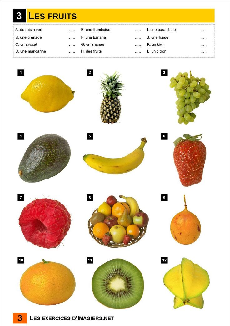 Français Langue Étrangère - A1: fruits