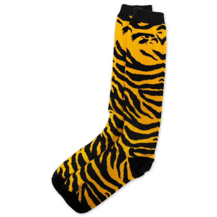 For Bare Feet Juniors University Of Iowa Hawkeye Zebra Print Socks VonMaur