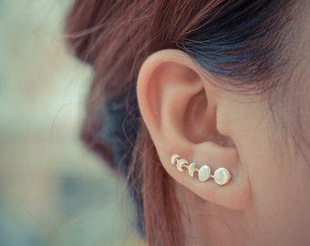 Moon phases earrings sterling silver korvakorut hopeaa kuu korvikset 16 e etsy
