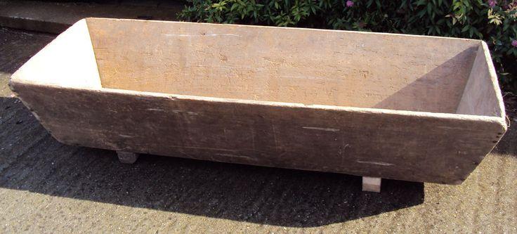 Vintage houten trog uit bakkerij 141 cm tweedehands en nieuw - AmaaiAmaai