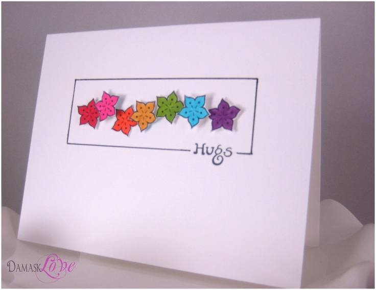 Sweet simple CAS card: Heart Punch, Cards Ideas, Flowers Stamps, Cards Stars, Birthday Cards, Cas Cards, Simple Cards, Get Well Cards, Cas Stars