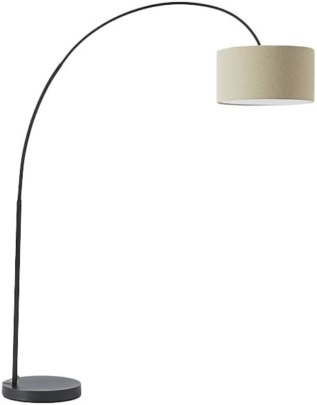 Overarching Linen Shade Floor Lamp - Antique Bronze | Natural - See more at: https://www.decorist.com/finds/135947/overarching-linen-shade-floor-lamp-antique-bronze-natural/
