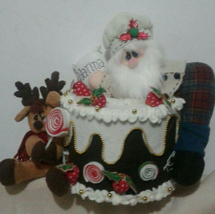 Papá Noel en pastel.