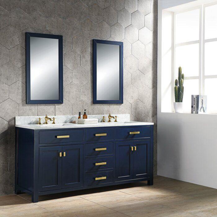 Crisler 72 Double Bathroom Vanity Set In 2020 Double Vanity Bathroom Bathroom Vanity Vanity Set
