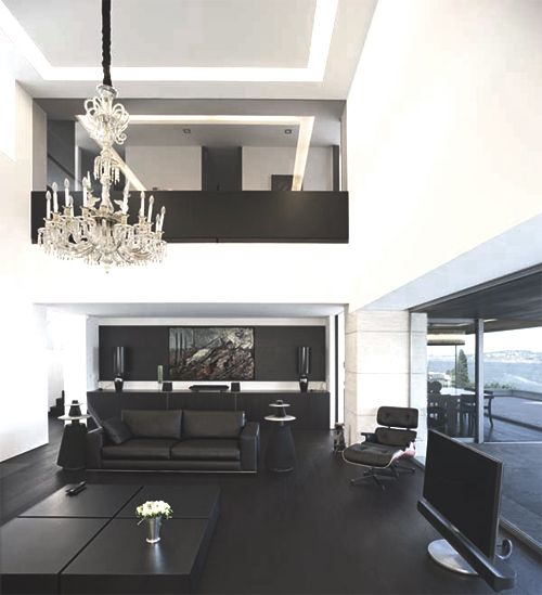 Linxspiration | Classy Tumblr, Classy Pictures, Classy ImagesModern Furniture, Living Rooms, Black Interiors, Living Room Design, Room Decor Ideas, Interiors Design, Black White, White Interiors, Living Room Furniture