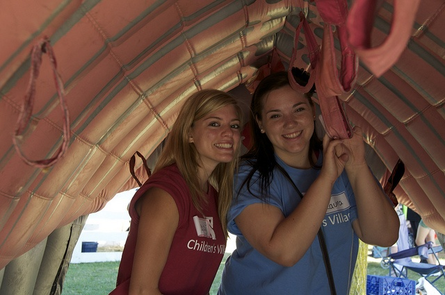 In the bouncy castle at The YMCA Children's Village at Kempenfest