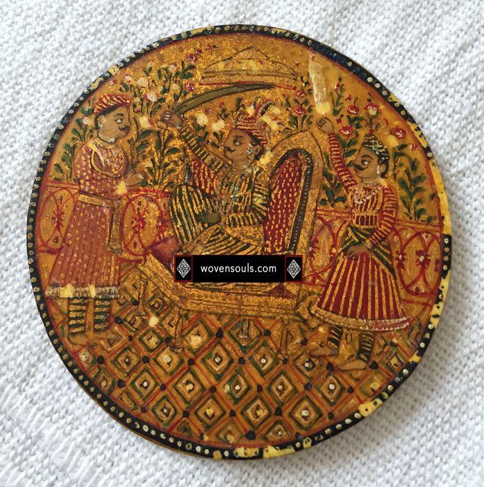 antique mughal ganjifacards