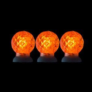 Round Orange LED Lights