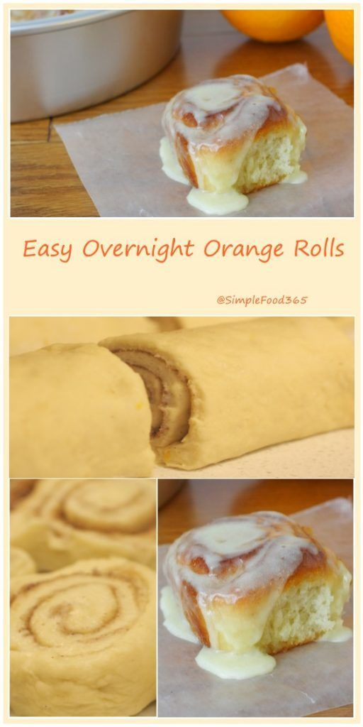 These airy, flavorful Easy Overnight Orange Rolls are a real breakfast treat. Delicate layers unravel to reveal warm cinnamon and bright orange. http://simplefood365.com/easy-overnight-orange-rolls/