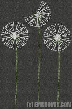 Creative machine embroidery designs: Dandelions embroidery design (Decorative cover ideas?)