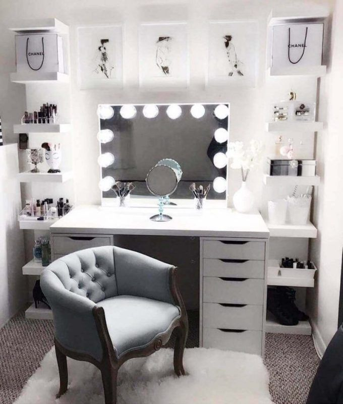 28+ DIY Simple Makeup Room Ideas, Organizer, Storage and ...