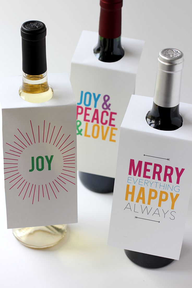 free printable wine bottle gift tags for the holidays