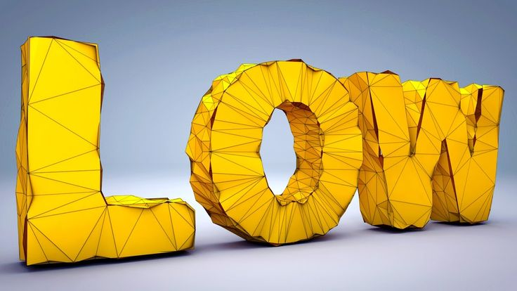Cinema 4D R18 Low Poly Text Effect | Low Poly In Cinema 4D Tutorial | Ci...