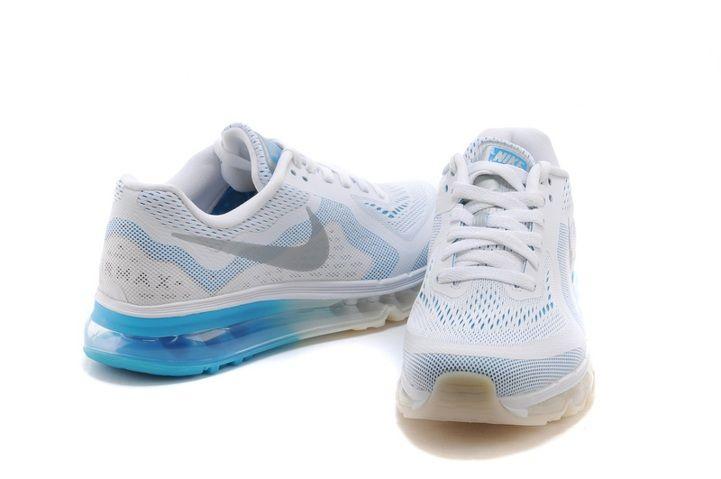 Deportivas Mejor Nike Air Max 2014 Cielo Azul Blanco Zapatillas Para La Mujer y Negro Air Max Baratas Online Sale