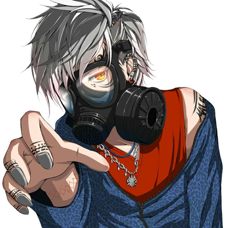 8 best mask anime images on pinterest anime guys - Anime girl with gas mask ...