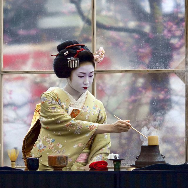 """The Japanese tea ceremony, also called the Way of Tea, is a Japanese cultural activity involving the ceremonial preparation presentation of matcha, powdered green tea. The manner in which it is performed, or the art of its performance, is called otemae. Zen Buddhism was a primary influence in the development of the tea ceremony."""
